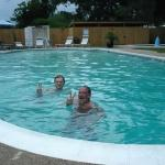 Enjoying the pool at the campground in Biloxi.